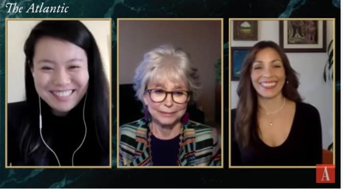 """The Atlantic: In Conversation on """"Rita Moreno: Just A Girl Who Decided to Go For It"""" with Rita Moreno and Director/producer Mariem Pérez Riera"""