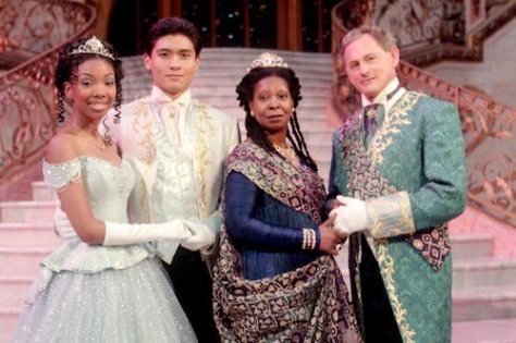 RODGERS AND HAMMERSTEIN'S CINDERELLA — Brandy, Paolo Montalban, Whoopi Goldberg and Victor Garber (l-r) star in Rodgers and Hammerstein's CINDERELLA.
