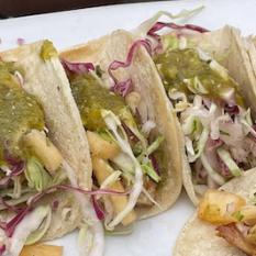Fish Tacos. Photo by Lia Chang